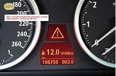 bmw dashboard warning lights exclamation