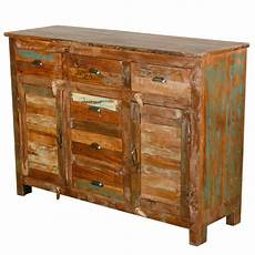 pedro rustic reclaimed 6 drawer sideboard