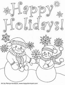 happy family original and coloring pages