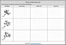 isometric view worksheets and activities easyteaching net