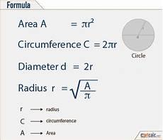 umfang kreis berechnen formel circle formulas area circumference radius geometry