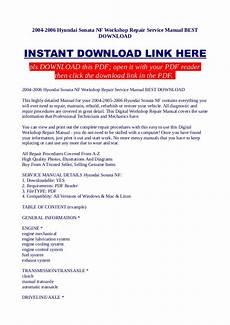 small engine repair manuals free download 1998 hyundai sonata parking system 2004 2006 hyundai sonata nf workshop repair service manual best downl