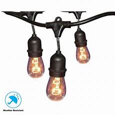 home depot string lights hton bay 12 light 24 ft black commercial string light gls 14j2 e26s 12 the home depot