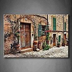 mediterrane mauer mit fenster streets of mediterranean towns flower door