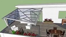 copertura per tettoia tettoia in ferro e policarbonato compatto