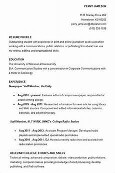 5 good college resume exles invoice templatez