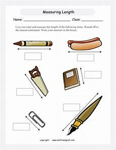 measurement worksheets grade 2 centimeters 1352 measuring length ws secondgrade learning classes color