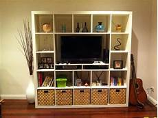 tv regal ikea ikea hackers expedit unit for smaller tv i this