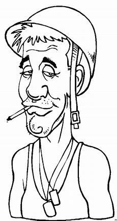 Comic Malvorlagen Lengkap Soldat Mit Zigarette Ausmalbild Malvorlage Comics