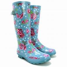 Gummistiefel Mit Blumen - sale new womens funky snow welly wellies