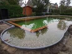 schwimmteich mit holzrahmen schwimmteichbau der