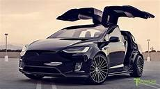 tesla model x p100d t largo 5 tesla model x p100d wide package with custom black ts120 22 quot forged