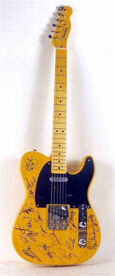 bruce springsteen guitar igavel auctions bruce springsteen and the e band fully signed fender telecaster n5eng