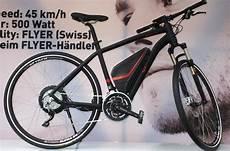 flyer e bike mit 500 watt motor