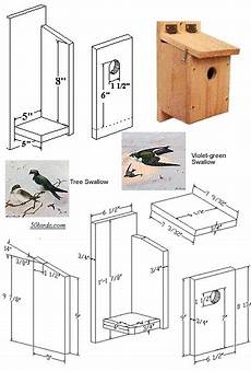 tree swallow house plans planos bird house plan nichoir maisons d oiseaux faites