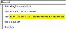 vba unprotect sheet how to unprotect sheet in excel using vba code