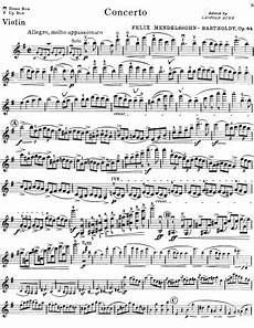 violin concerto in e minor op 64 felix mendelssohn bartholdy free violin sheet music