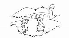Gambar Mewarnai Tema Bulan Ramadhan Kumpulan Gambar Menarik