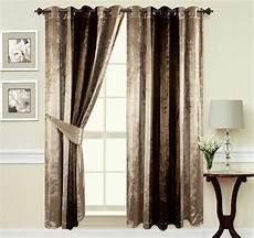 Brown Curtains by Curtains Ring Top Eyelet Ready Made Fullylined Crush