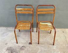 paire chaises bistrot m 233 tal style tolix