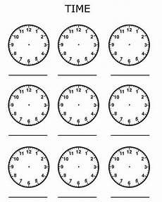 clocks blank telling time bluebirdplanet com printables