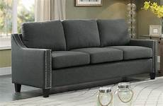 Homelegance Pagosa Sofa Polyester Grey 8328 3 At