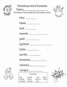 christmas word scramble by 2nd grade s a hoot teachers