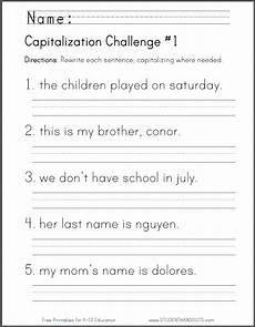 free printable capitalization challenge worksheet homeschool giveaways