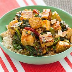 recipe kung pao tofu with chinese broccoli brown rice blue apron