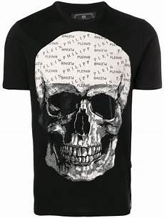 philipp plein t shirt mit totenkopf schwarz in black