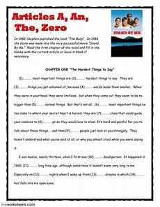 articles the by stephen king interactive worksheet