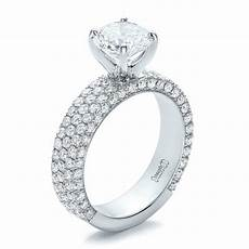 custom pave diamond engagement ring 100770