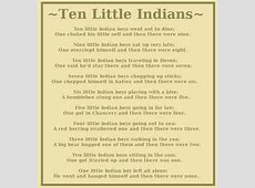 ten little indians poem meaning