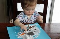 basteln mit kindern unter 3 jahren winter schneemann