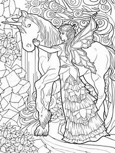magical unicorns and fairies coloring book unicorn