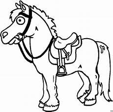 Malvorlage Pferd Comic Gesatteltes Pferd Ausmalbild Malvorlage Comics
