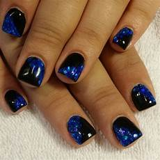 black blue glitter gel nails glitter gel nails manicure
