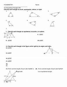 4 1 classifying triangles ws by mrs v teachers pay teachers