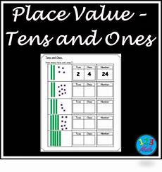 place value worksheets with tens and ones 5333 place value tens ones worksheets by 123 math tpt