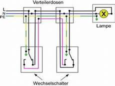 wechselschaltung 2 schalter 1 le steckdose wiring diagram