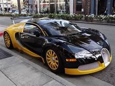 Black And Bugatti by Bijan S Custom Yellow Black Bugatti Veyron In Beverly