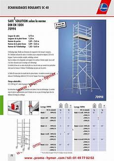 prix montage echafaudage m2 catalogue hymer tableau prix pour tous 233 chafaudages aluminium hymer plateformes de s 233 curit 233