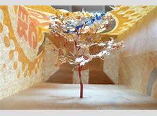 Shopping Bag Art: Intricate Pop Up Trees by Yuken Teruya