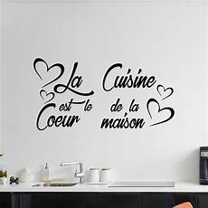 stickers ecriture pour cuisine citation cuisine noir l 50cm espacedeco tn