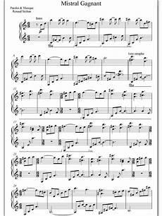piano sheet music mistral gagnant coeur de pirate
