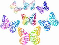 Bakeey Transparent Multi Color by Decorative Multicolored Butterflies Png Clip Gallery