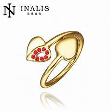 r466 sale 18k gold plated heart ring dubai wedding jewelry engagement rings for