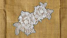 how to applique how to sew on lace applique