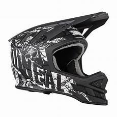 oneal blade rider downhill helm schwarz weiss mit two x