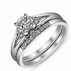 affordable diamond bridal ring for in white gold jeenjewels